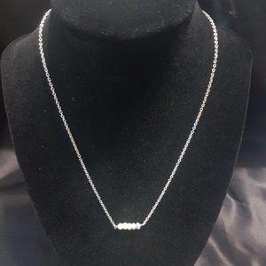 Kris Nations Howlite Bar Necklace